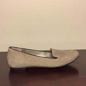 me too Shoes - Light Gray Suede Loafer Flats (Size 6)